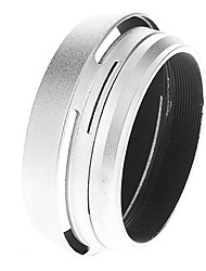 2-in-1 Metall-Gegenlichtblende und Filter-Adapter-Ring für Fuji X100 Kamera (Silber)