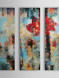 Hånd-malede Abstrakt Horisontal Tre Paneler Kanvas Hang-Painted Oliemaleri For Hjem Dekoration