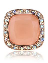 billige -Dame Ring - Legering 8 / 9 / 8½ Hvid / Sort / Orange Til