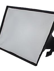 20 x 30 cm draagbare flash softbox diffuser voor 600EX 580EX 430EX SB-910 SB-900 SB-700 HVL-F58AM F42AM (zwart)