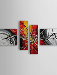 Hand-Painted Abstract Any Shape Four Panels Canvas Oil Painting For Home Decoration