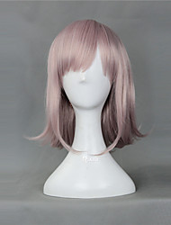 cheap -Cosplay Wigs Dangan Ronpa Chiaki Nanami Pink Short Anime/ Video Games Cosplay Wigs 40 CM Heat Resistant Fiber Female