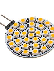 G4 GU4(MR11) LED-spotlys 30 leds SMD 3528 Varm hvid 90-110lm 3000K Vekselstrøm 12V