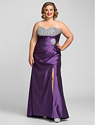 Sheath / Column Sweetheart Floor Length Taffeta Prom Dress with Beading by TS Couture®