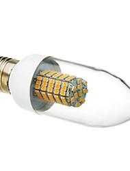 E26/E27 Luzes de LED em Vela 102 leds SMD 3528 Branco Quente 520-550lm 3000K AC 220-240V