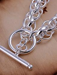 totalmente pulseira prata círculo