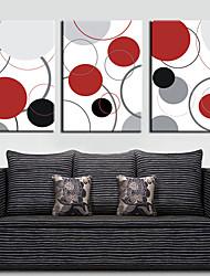 Reproduction transférée sur toile art abstrait cercles colorés ensemble de 3