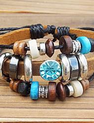 Bracelet Charmes pour Bracelets Bracelets Vintage Alliage Cuir Bois Autres Original Mode Soirée Quotidien Décontracté Sports Bijoux Cadeau