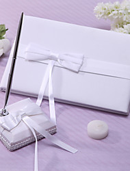 Guest Book Pen Set Satin Garden ThemeWithSash