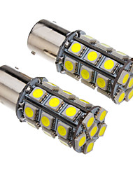 1156 4W 27x5050SMD 330-360LM 6000-6500K Cool White Light LED Bulb for Car (12V)