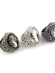 cheap -Men's Statement Ring White Black Purple Rhinestone Alloy Fashion Party Daily Costume Jewelry