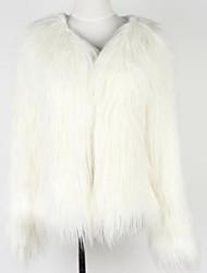 Cappotto di pelliccia Da donna Per uscire Inverno Vintage Rotonda Pelliccia sintetica Manica lunga Spesso