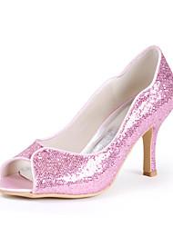 Espumante Glitter casamento Stiletto Heel Bombas Heels