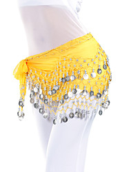 cheap -Belly Dance Belt Women's Training Chiffon Beading Coins Hip Scarf