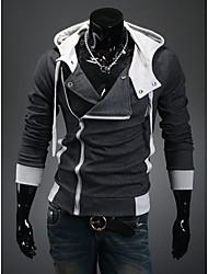 Uomo DJJM Fashion Leisure Sospensione con cappuccio Coltivazione moralità Cardigan Fleece Coat One'S (grigio scuro)