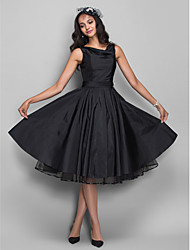 cheap -A-Line Cowl Neck Knee Length Taffeta Cocktail Party Homecoming Company Party Dress with Ruching by TS Couture®