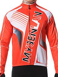 Mysenlan Giacca da ciclismo Per uomo Maniche lunghe Bicicletta Giacca di pelle Maglietta/Maglia TopTenere al caldo Antivento Fodera di