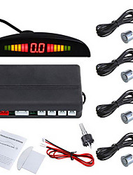 Car LED Parking Reverse Backup Radar System with Backlight Display with 4 Sensors (Multiple Colors)