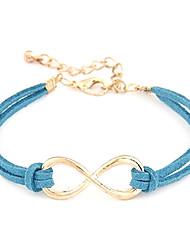 Z&X®  (1 Pc)Fashion 25cm Women's Multicolor Leather Chain & Link Bracelet