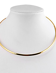 cheap -Women's Choker Necklace  -  Simple Style Circle Geometric Silver Golden Necklace For Daily Casual