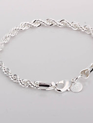 cheap -Twisted Alloy Silver Plated Women's Bracelet Classical Feminine Style