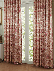 Rod Pocket Grommet Top Tab Top Double Pleat Two Panels Curtain Country , Print Polyester Material Curtains Drapes Home Decoration