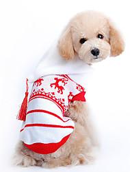 Cane Maglioni Felpe con cappuccio Abbigliamento per cani Vacanze Natale Renna Rosso Costume Per animali domestici