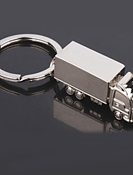 cheap -Men's Fashion Truck Shaped Silver Keychains