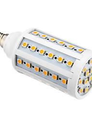 E14 LED-kolbepærer T 60 leds SMD 5050 Varm hvid 850-890lm 3000K Vekselstrøm 220-240V