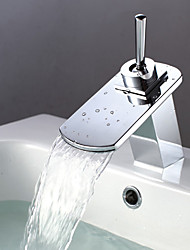 cheap -Centerset Single Handle One Hole in Chrome Bathroom Sink Faucet