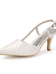 Cetim / Lace Stiletto Heel Bombas casamento sapatos de salto (mais cores)