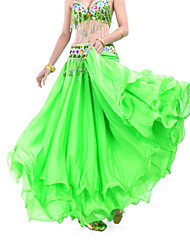cheap -Belly Dance Skirt Women's Training Chiffon Draping Tier Natural Skirt