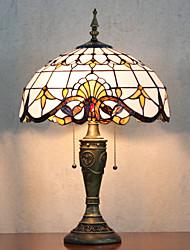 Недорогие -Настольная лампа, 2 Свет, Тиффани Элегантные Стекло Живопись Смола
