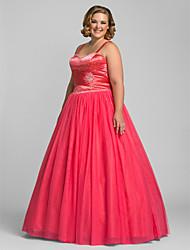 preiswerte -A-line schatz bodenlänge tulle prom kleid mit bördeln von ts couture®