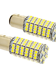 BAY15D / 1157 8w 120x3020smd 660lm 5500-6500k lumière blanche froide ampoule led pour voiture (12v, 2pcs)