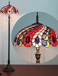 billiga -Floor Lamp, 2 ljus, Tiffany Resin glasmålning Process