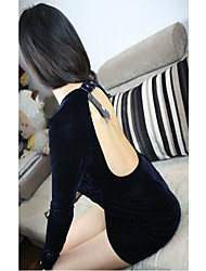 povoljno -Fashiongirl Ženska Low Cut zadnjeg djela Hip Pack plavoj haljini