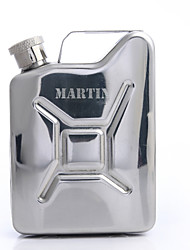Personalized Father's Day Gift Kettle Shaped 4oz Metal Capital Letters Flask