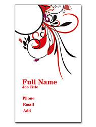 Недорогие -200шт персонализированные 2 Стороны Отпечатано Матовая пленка Вертикальный букет Pattern Визитная карточка