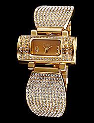 baratos -Mulheres Bracele Relógio / Relógio Pavé imitação de diamante Aço Inoxidável Banda Brilhante / Fashion / Elegante Prata / Dourada / Dois anos / Maxell SR626SW