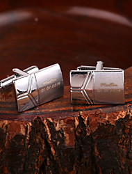 cheap -Zinc Alloy Cufflinks & Tie Clips Groom Groomsman Wedding Anniversary Birthday Congratulations Business