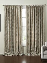 baratos -neoclássico folha dois painéis de cortinas de painel de poliéster quarto bege cortinas