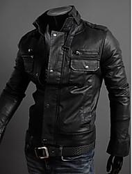 OTTF Fashion Stand Collar Jacket Multi-lampo (nero)