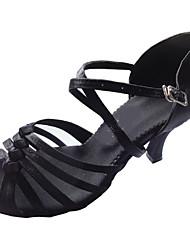 """Scarpe da ballo - Disponibile """"su misura"""" - Donna - Latinoamericano / Sala da ballo - Customized Heel - Satin - Nero"""