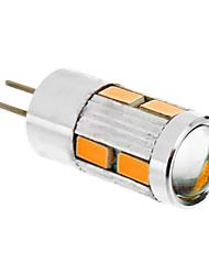 billige -1.5 W 2500 lm G4 LED-kornpærer T 10 LED perler SMD 5730 Varm hvit 12 V
