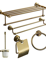 cheap -Bathroom Accessory Set High Quality Antique Aluminum 5pcs - Hotel bath Toilet Brush Holder tower ring tower bar Toilet Paper Holders Wall