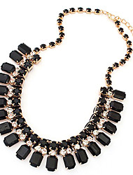 Da donna Collane a catena Quadrato Di forma geometrica Pietre sintetiche Resina Diamanti d'imitazione Lega Europeo Gioielli Per