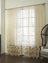 cheap -Two Panels Curtain Country Bedroom Poly / Cotton Blend Material Sheer Curtains Shades Home Decoration For Window
