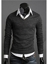 cheap -New Fashion Best Selling Spring Multi-Color Sweater Slim V-Neck Basic Sweater Male Thin Sweater