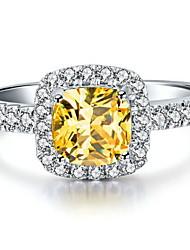 preiswerte -3 Karat Halogen Kissen Frauen sona Kristall-Diamant-Ring 925 Silber Weißgold Luxus